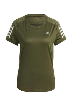 Own The Run hardloop T-shirt donkergroen