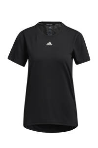 adidas Performance Necessi-Tee Designed4Training sport T-shirt zwart/wit, Zwart/wit