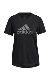 adidas Performance Designed4Training sport T-shirt zwart/wit, Zwart/wit