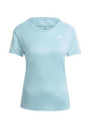 Own The Run hardloop T-shirt lichtblauw