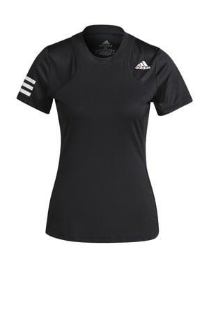 tennis T-shirt zwart/wit