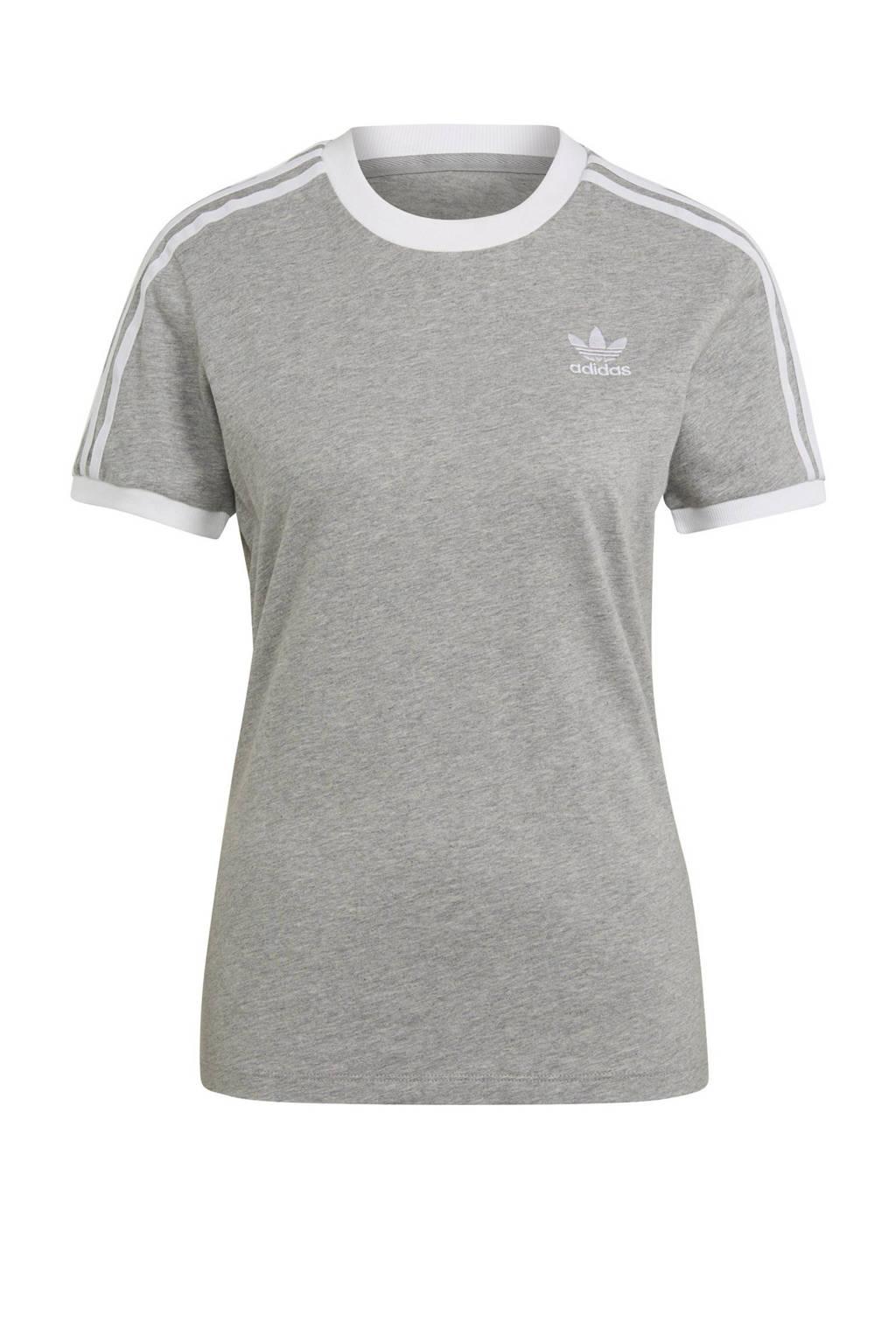 adidas Originals Adicolor T-shirt grijs/wit, Grijs melange