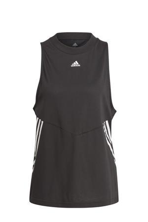 sporttop zwart/wit