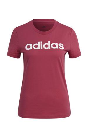 sport T-shirt roze/wit