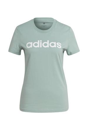 sport T-shirt mintgroen/wit