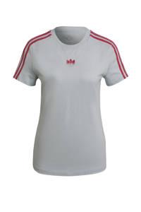 adidas Originals Adicolor T-shirt grijsblauw/roze, Grijsblauw/roze