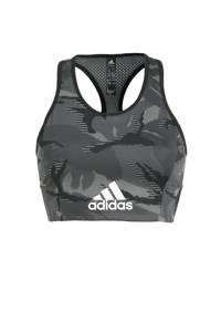 adidas Performance Believe This sportBH light zwart/wit, Zwart/wit