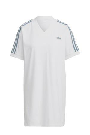 Adicolor T-shirt jurk wit/groen