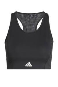 adidas Performance level 2 Believe This sportBH zwart/wit, Zwart/wit