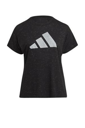 Plus Size 2.0 Sportwear sport T-shirt zwart