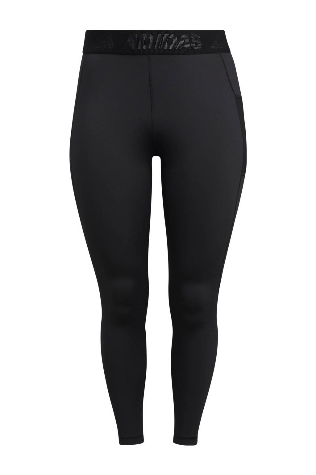 adidas Performance Plus Size sportlegging zwart/wit, Zwart/wit