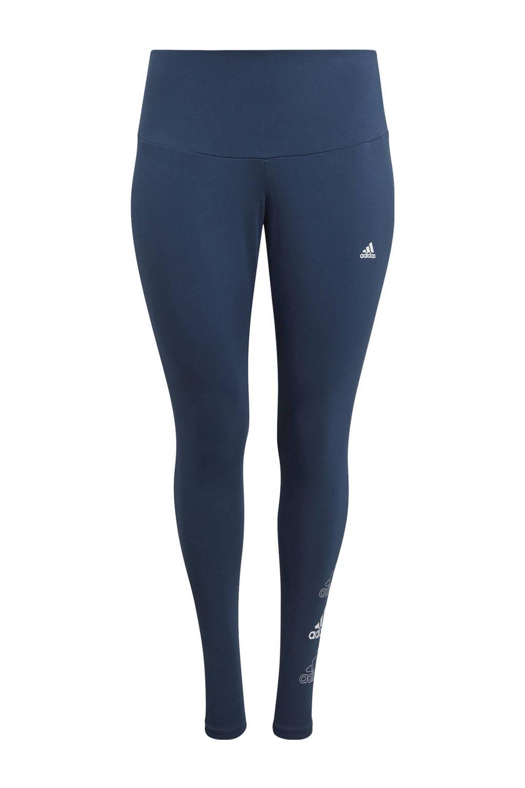 adidas Performance Plus Size sportlegging donkerblauw, Donkerblauw