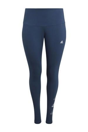 Plus Size sportlegging donkerblauw