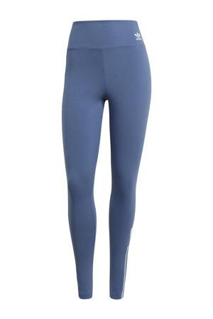 Adicolor legging blauw/wit