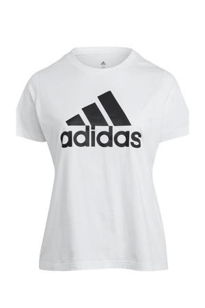 Plus Size sport T-shirt wit/zwart