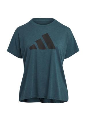 Plus Size 2.0 Sportwear sport T-shirt petrol