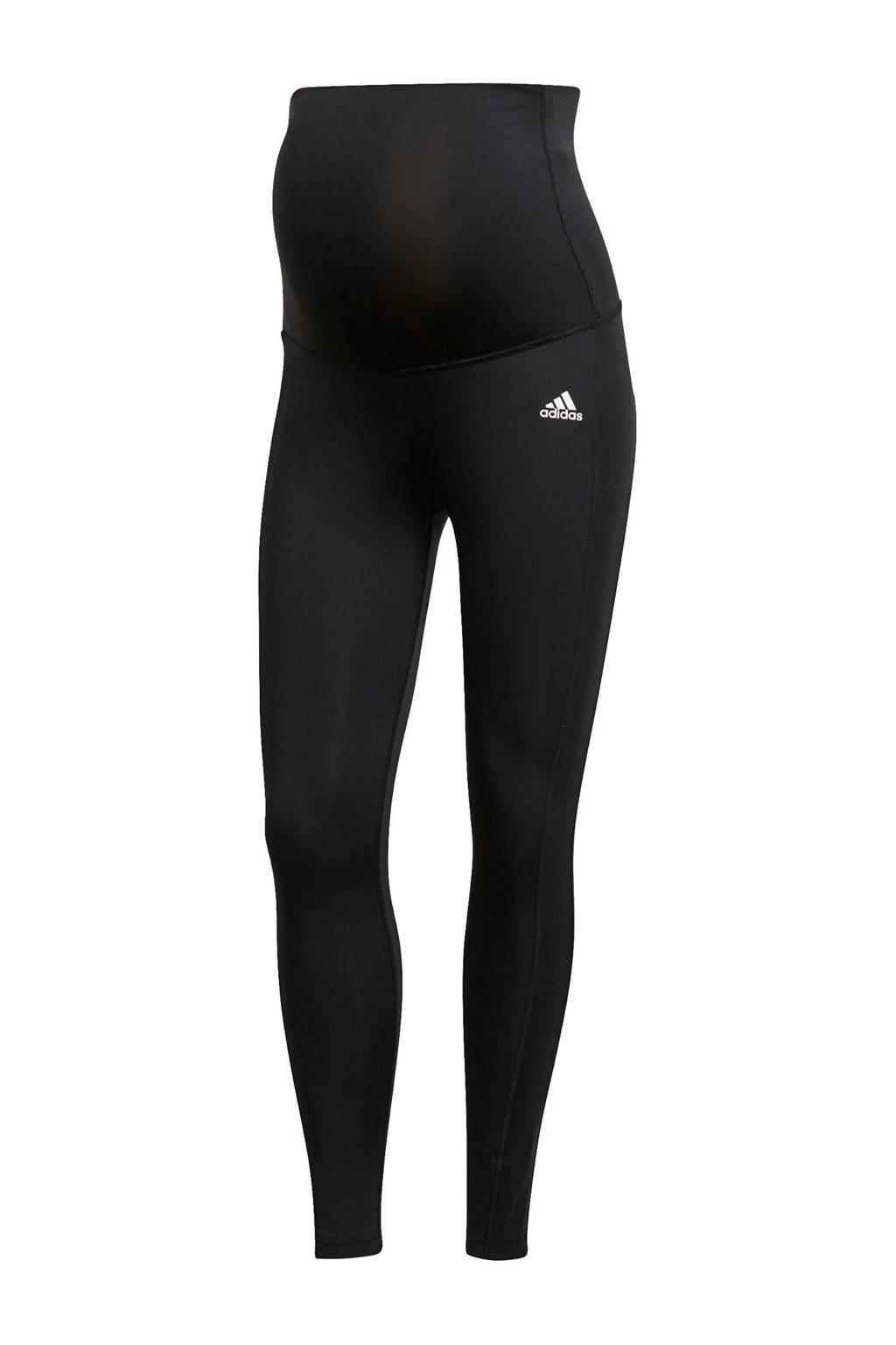 adidas Performance Designed2Move zwangerschaps sportlegging zwart/wit, Zwart/wit