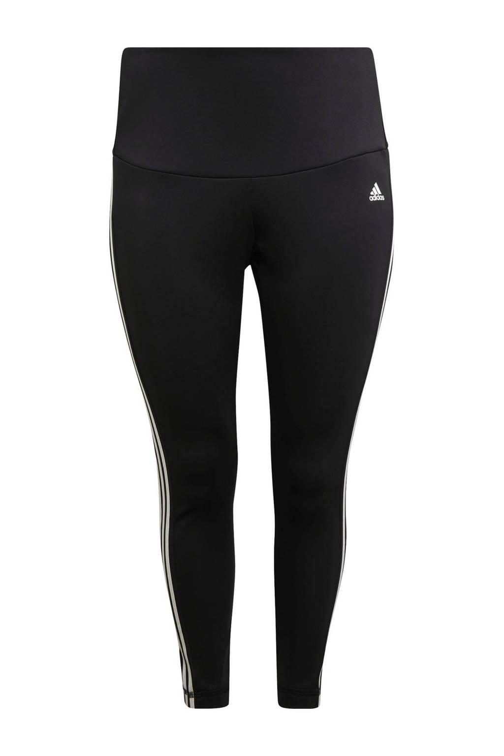 adidas Performance Plus Size 7/8 sportlegging zwart/wit, Zwart/wit