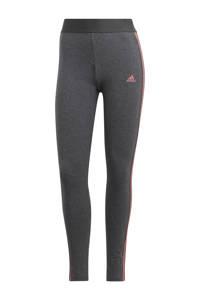adidas Performance sportlegging grijs/roze, Grijs melange/roze