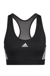 adidas Performance Believe This 2.2 Dance sportbh level 3 zwart/wit, Zwart/wit