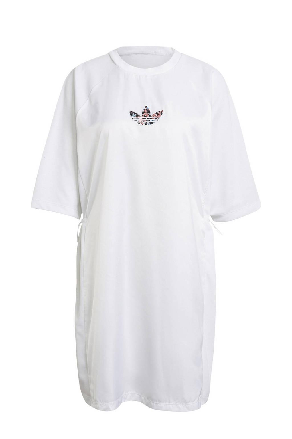 adidas Originals Adicolor T-shirt jurk wit, Wit