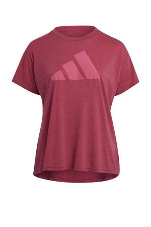 Plus Size 2.0 Sportwear sport T-shirt roze