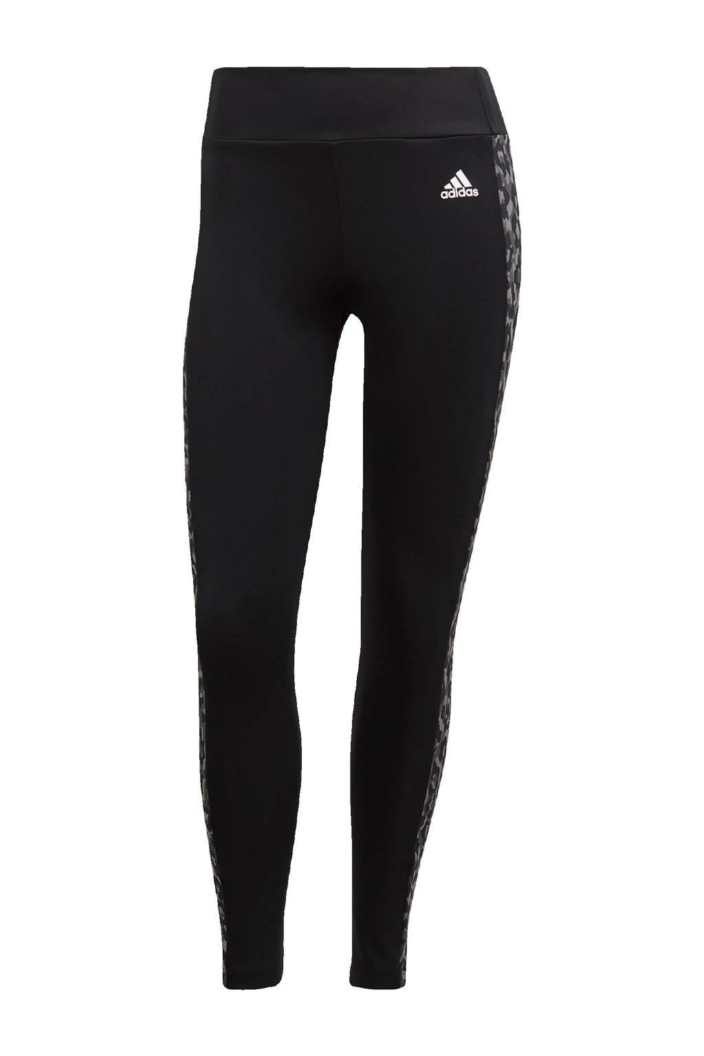 adidas Performance Designed2Move 7/8 sportlegging zwart/grijs, Zwart/grijs