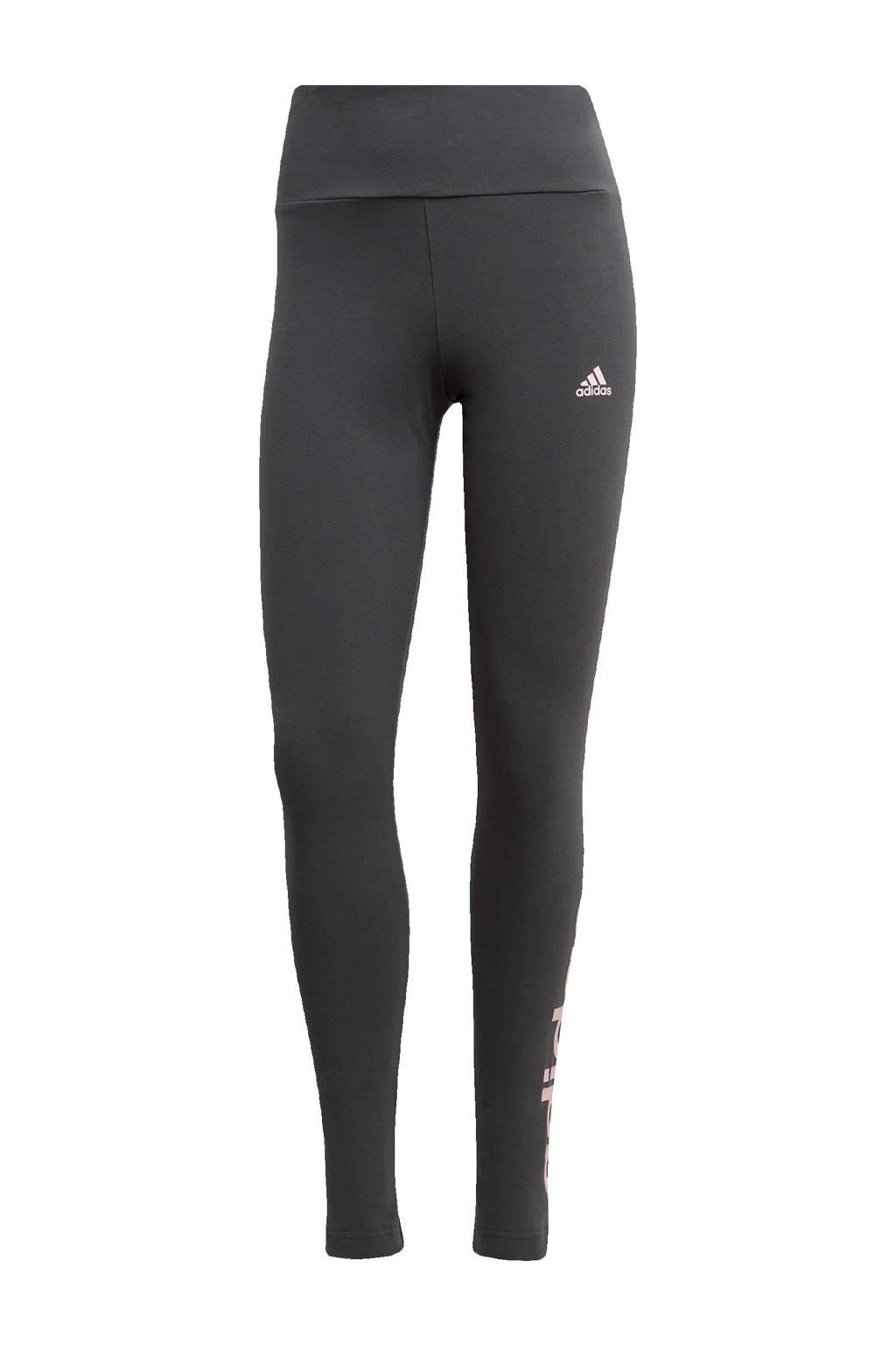 adidas Performance sportlegging grijs/roze, Grijs/roze
