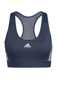 adidas Performance Believe This 2.2 Dance sportbh level 3 donkerblauw/wit, Donkerblauw/wit