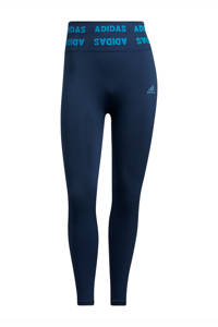 adidas Performance Aeroknit Designed4Training sportlegging donkerblauw, Donkerblauw