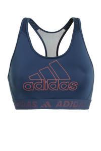adidas Performance level 3 sportbh donkerblauw, Donkerblauw
