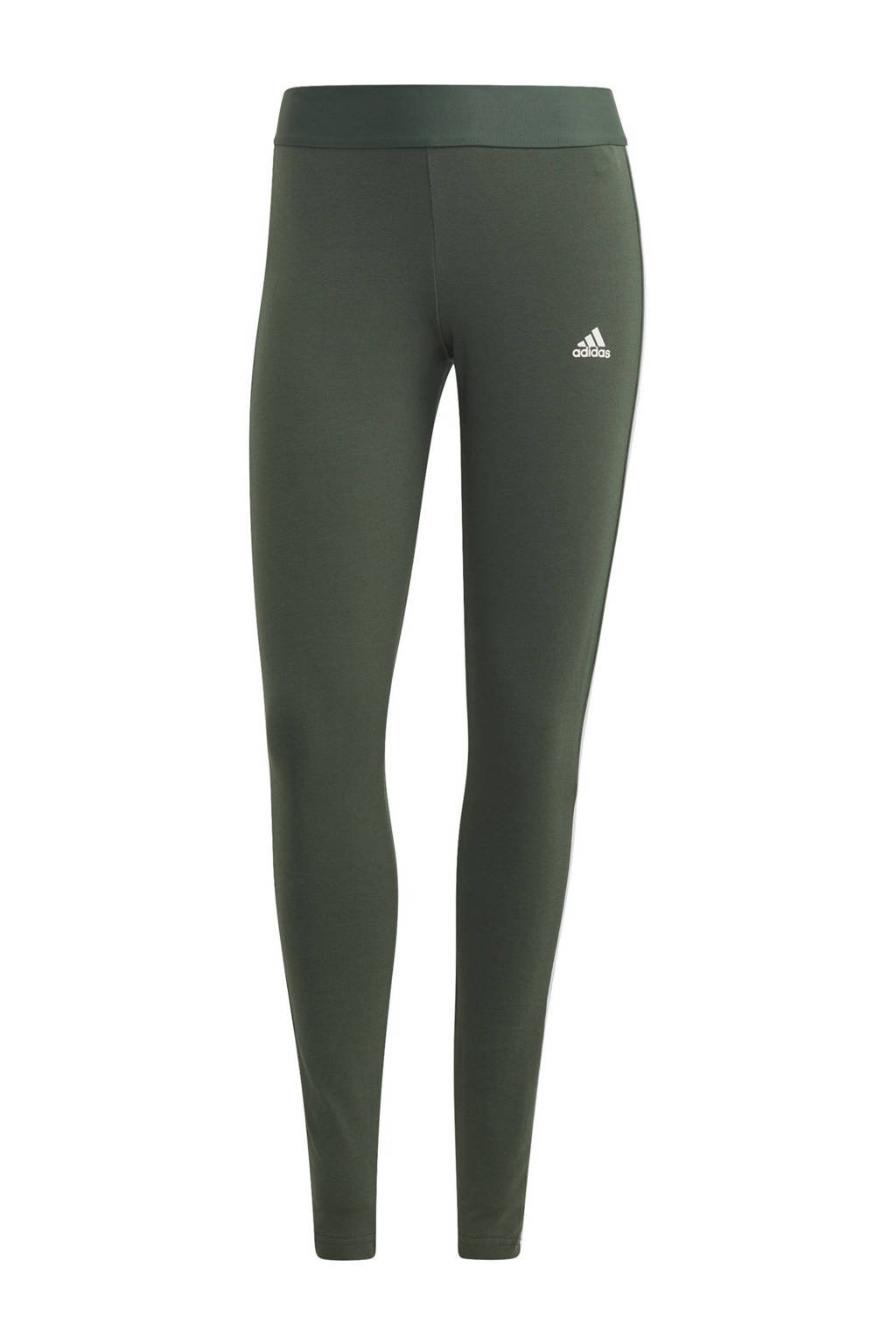 adidas Performance sportlegging groen/wit, Groen/wit