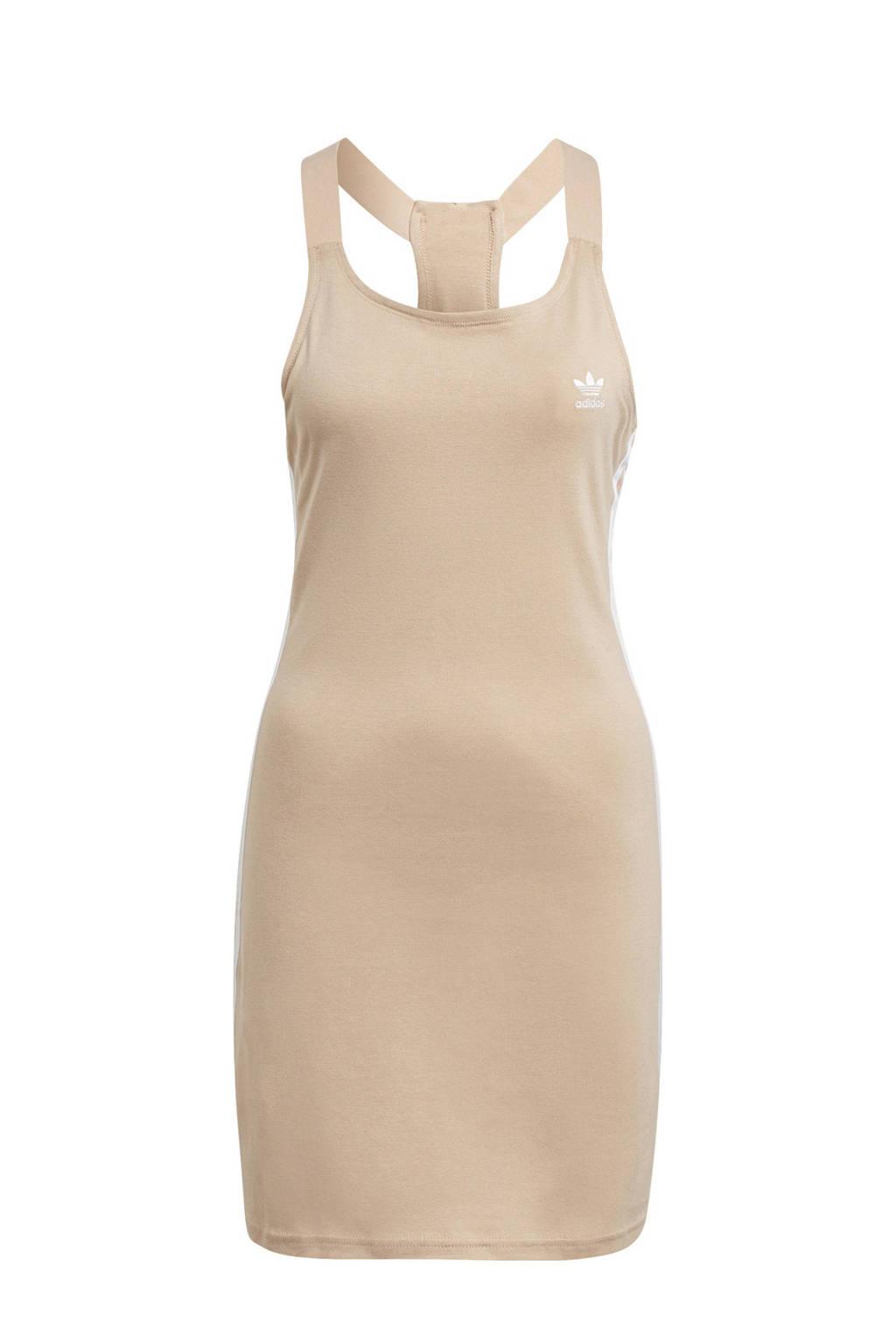 adidas Originals Adicolor jurk beige/wit, Beige/wit