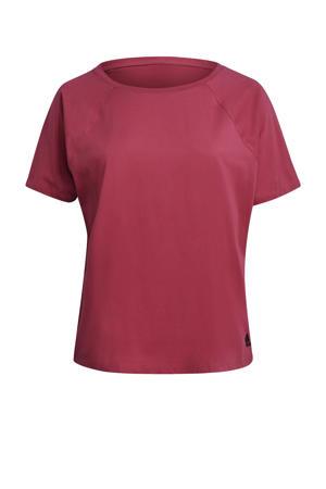 Plus Size sport T-shirt donkerroze