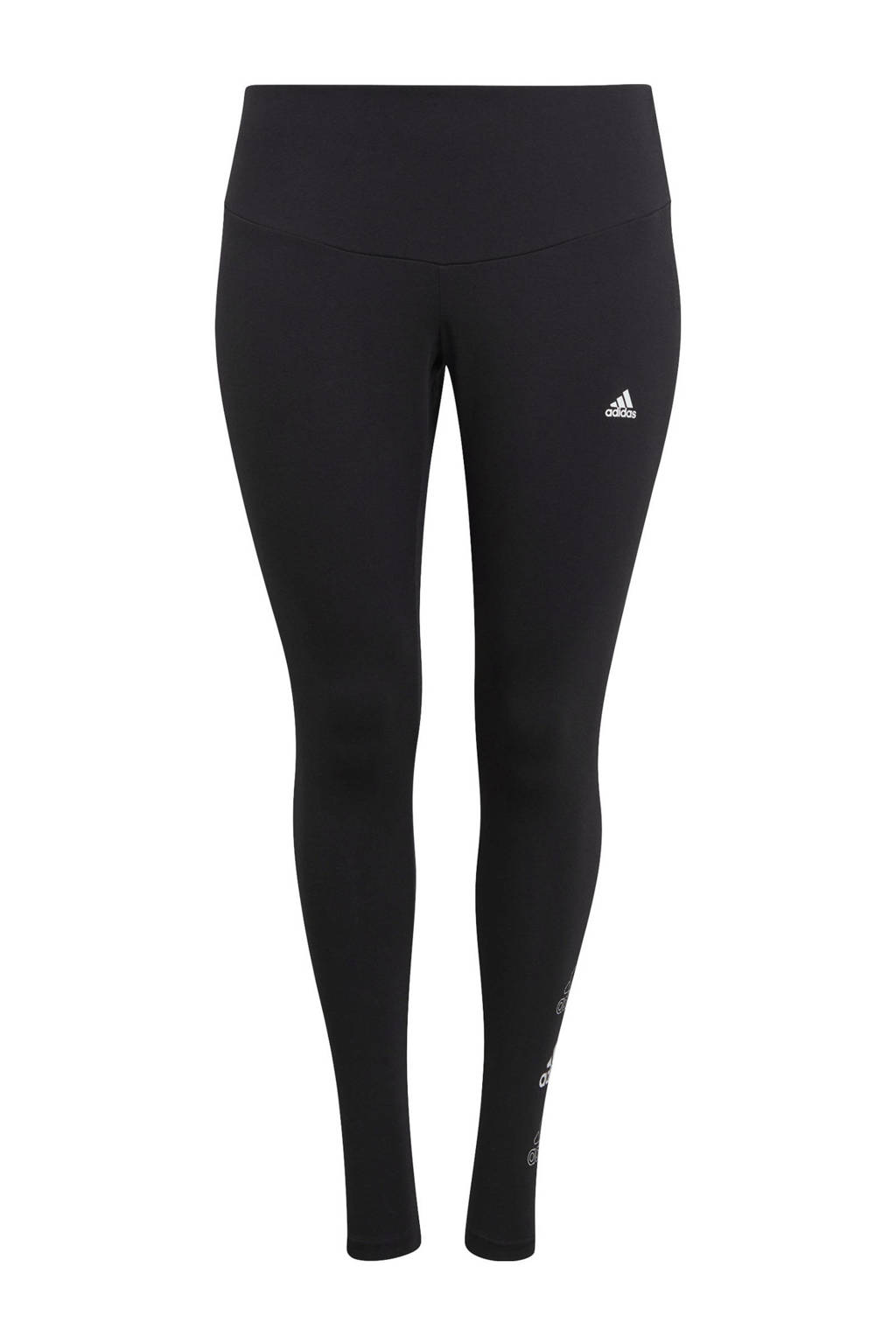 adidas Performance Plus Size sportlegging zwart, Zwart
