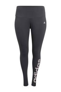 adidas Performance Plus Size sportlegging grijs/roze, Grijs/roze