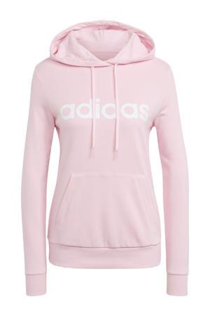 sporthoodie roze/wit