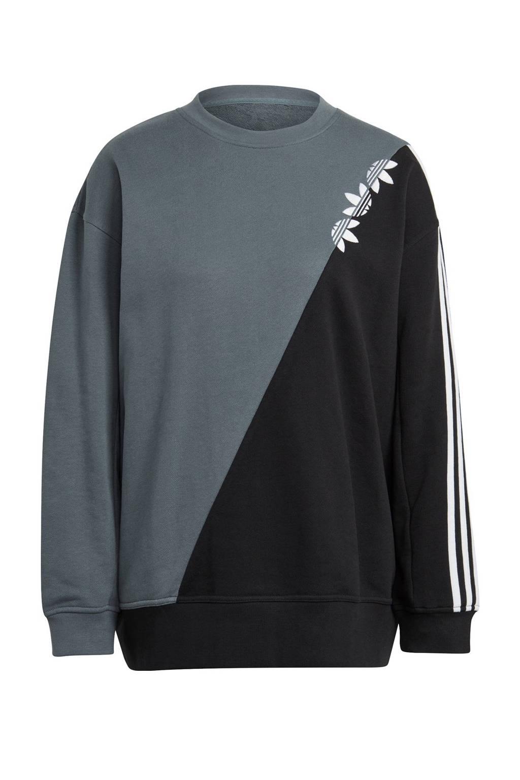 adidas Originals Adicolor sweater grijsblauw/zwart, Grijsblauw/zwart