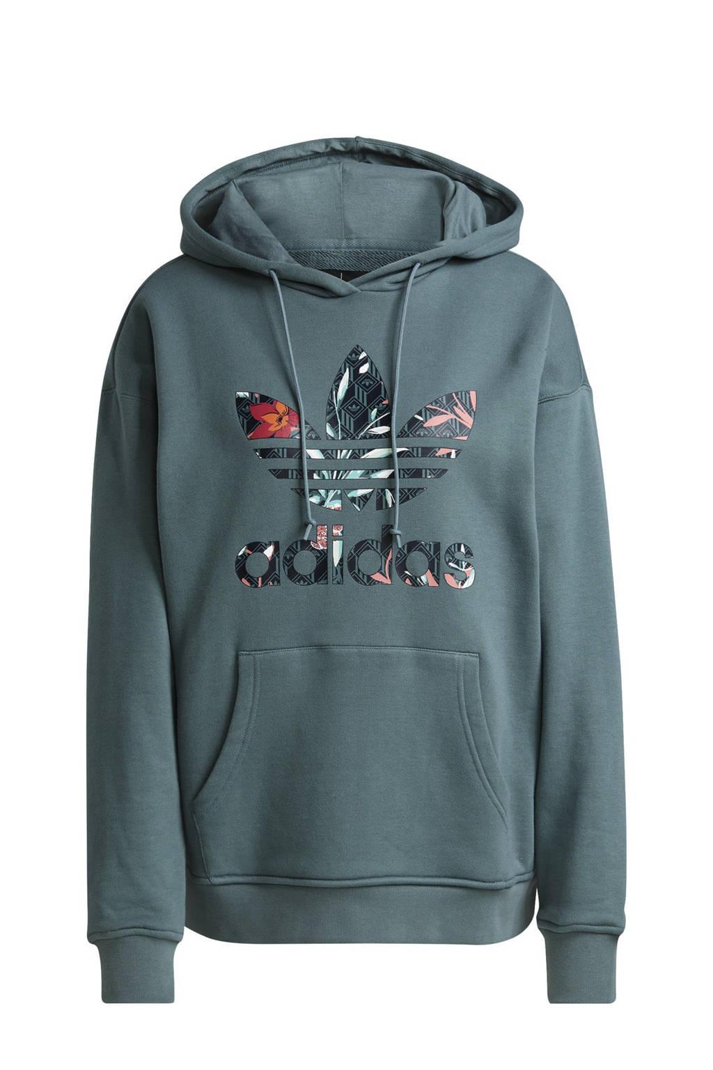 adidas Originals hoodie petrol, Petrol