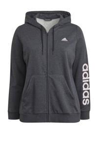 adidas Performance Plus Size sportvest grijs/lichtroze, Grijs/lichtroze