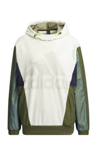 adidas Performance Future Icons sportsweater ecru/donkerblauw/groen, Ecru/donkerblauw/groen