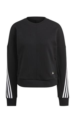 sportsweater zwart/wit