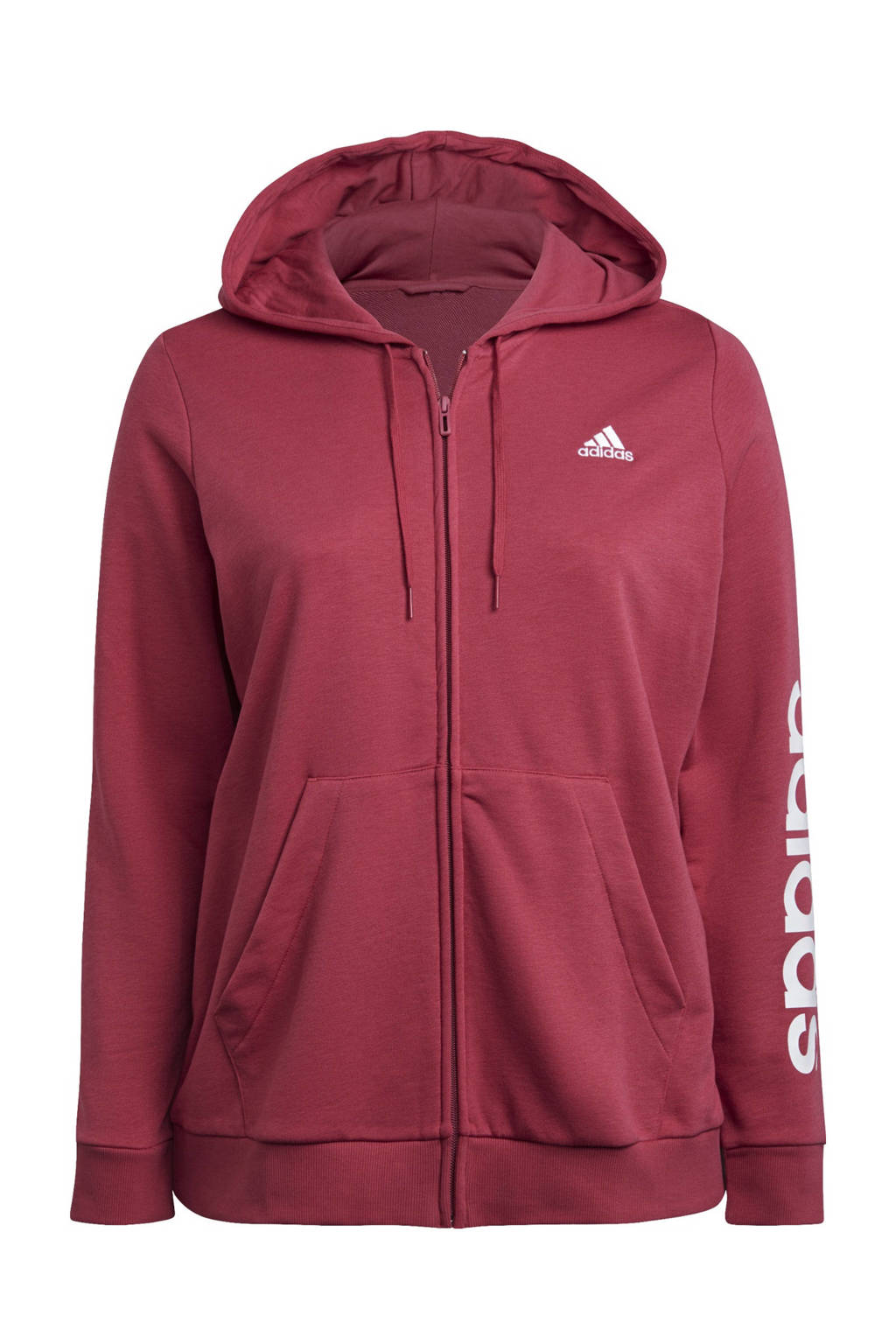 adidas Performance Plus Size sportvest donkerroze/wit, Donkerroze/wit