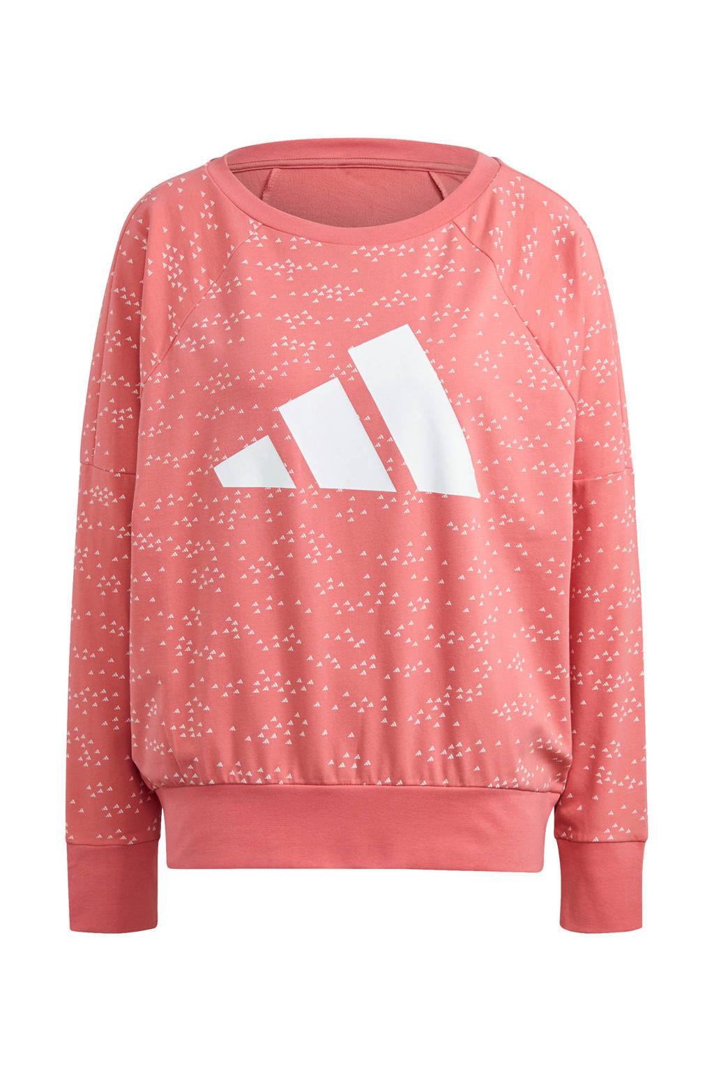 adidas Performance sweater lichtroze, Lichtroze