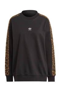 adidas Originals sweater met luipaardprint zwart, Zwart