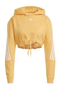 adidas Performance cropped sportsweater oranje/wit, Oranje/wit