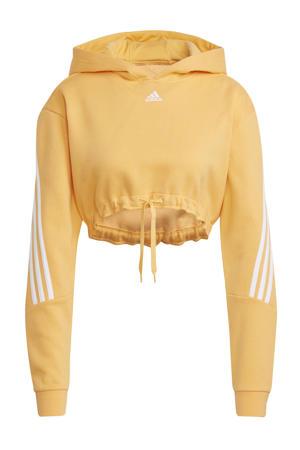 cropped sportsweater oranje/wit