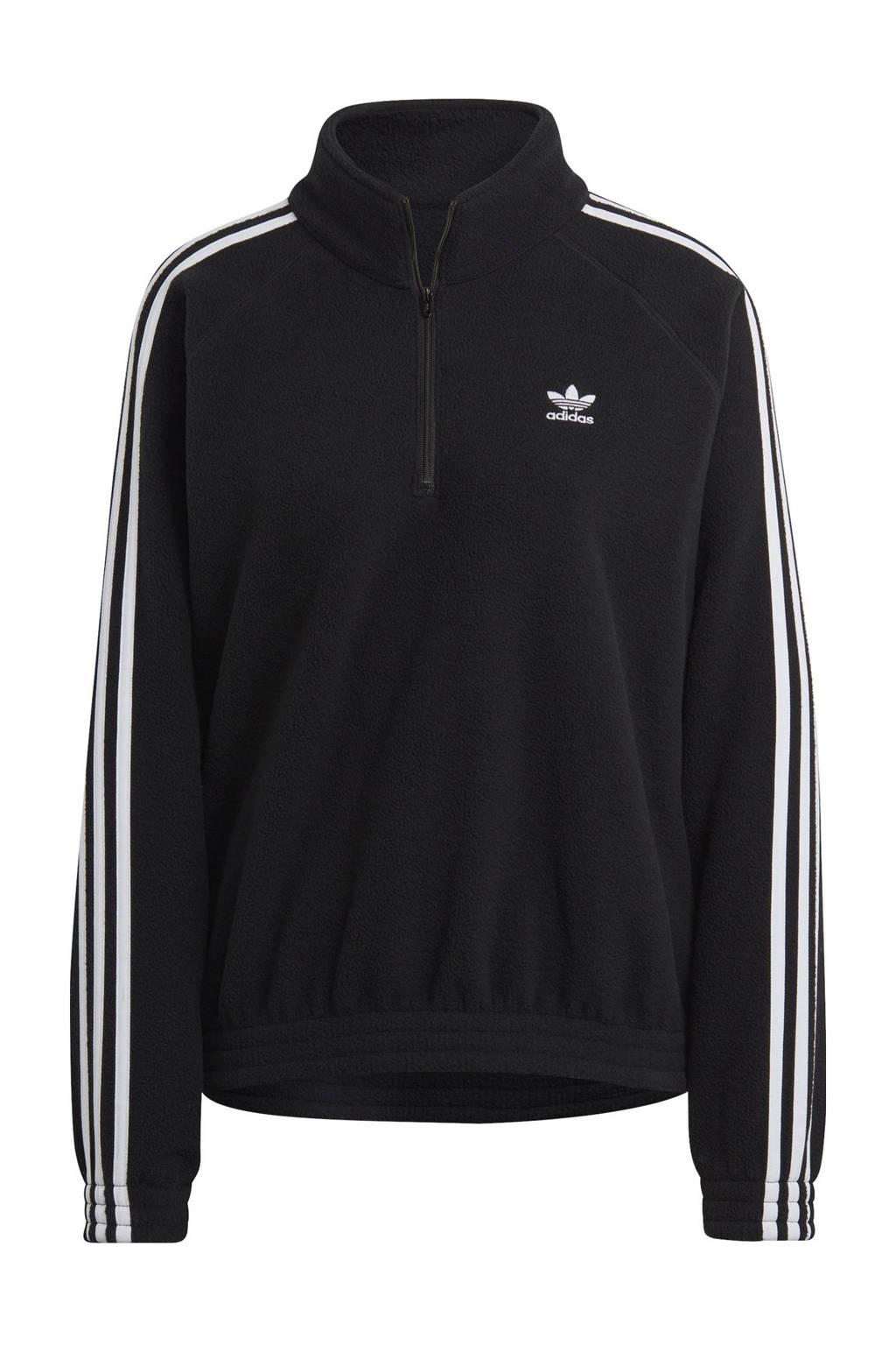 adidas Originals Adicolor fleece sweater zwart, Zwart