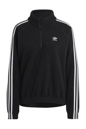 Adicolor fleece sweater zwart