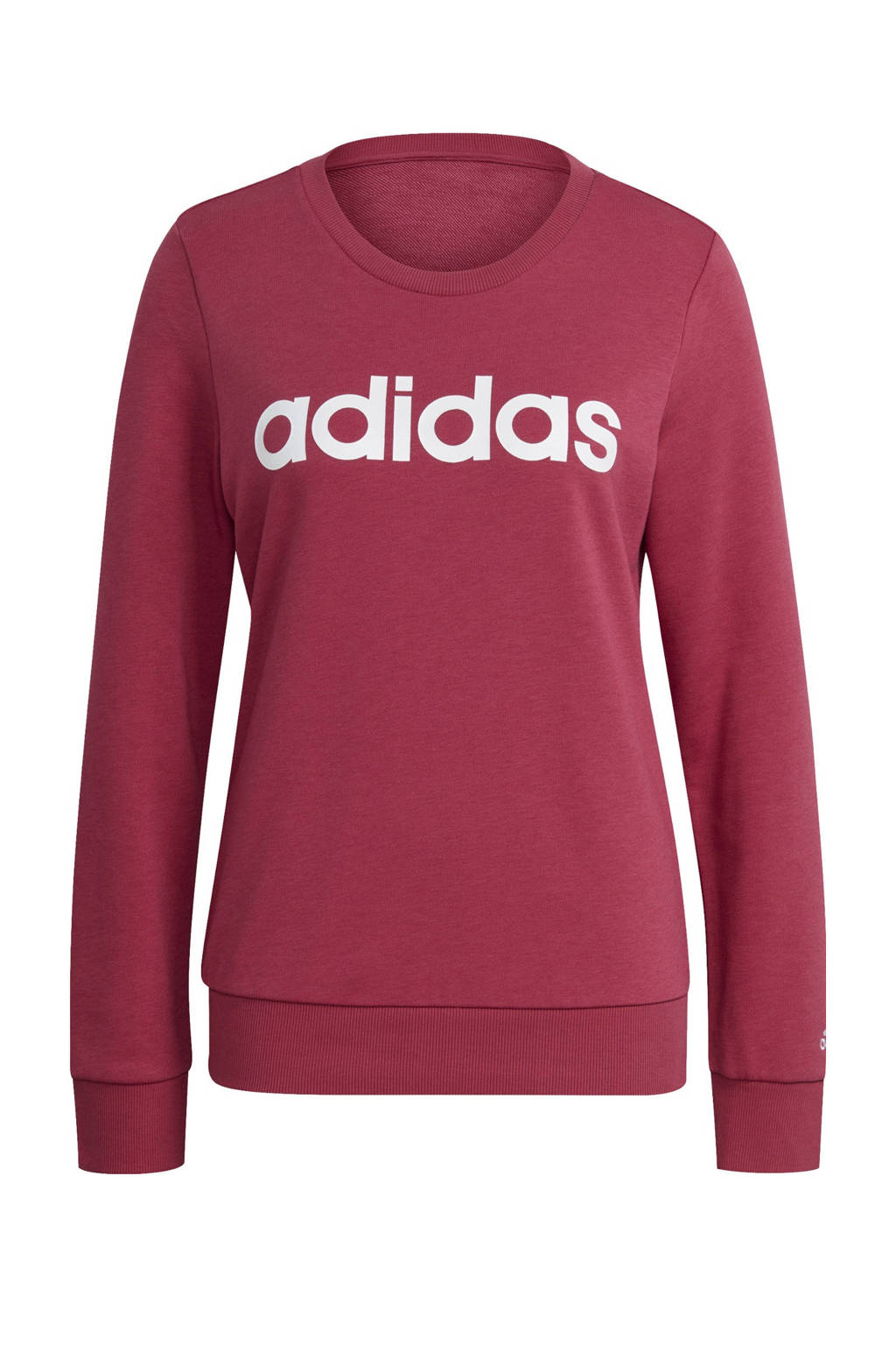 adidas Performance sportsweater donkerroze/wit, Donkerroze/wit